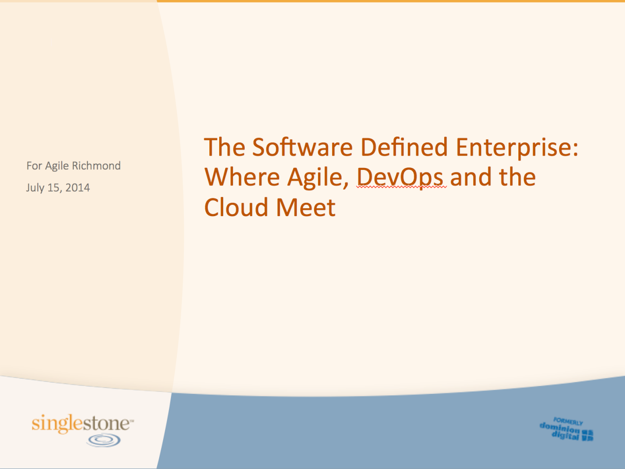 Software Defined Enterprise